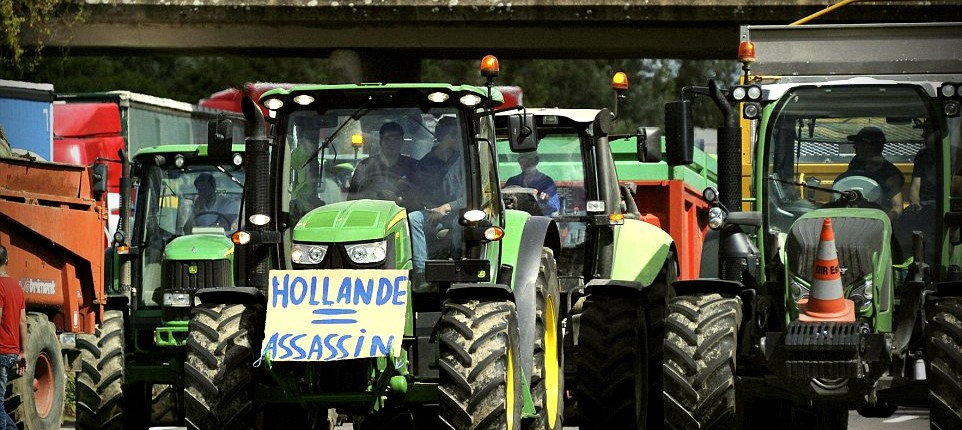 French Farmers - Cheap Vegetables = Expensive Traffic