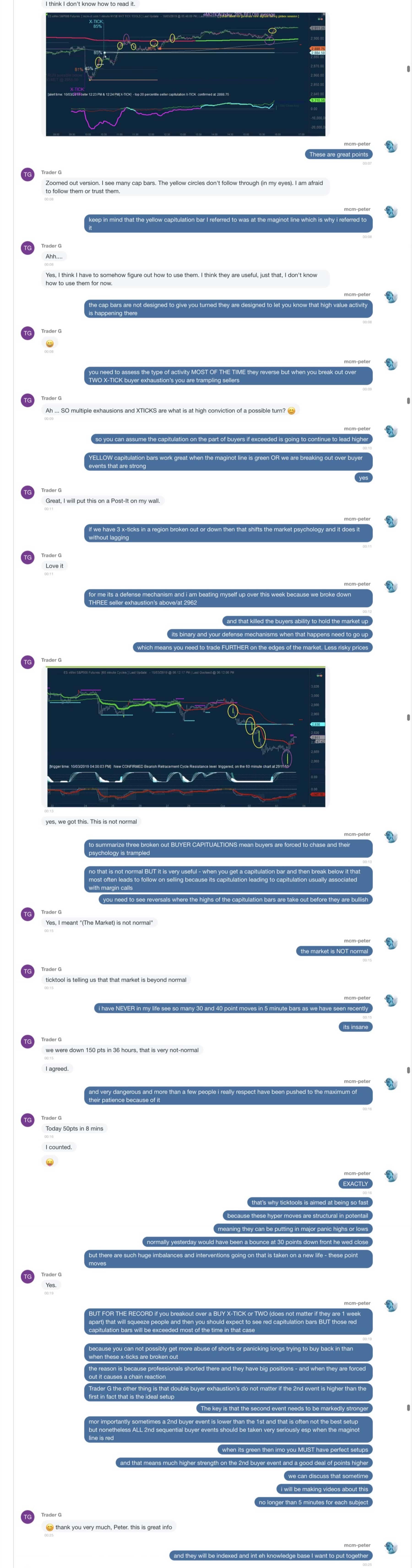 Oct 3rd Post market conversation part 1